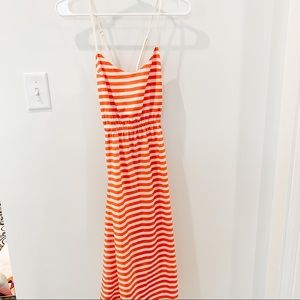Urban outfitters striped dress with fun back!